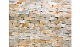 Natural Stone Ledger Panel 6x24 | Desert Gold | Basketweave Quartzite