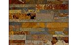 Natural Stone Ledger Panel 6x24 | Sunset Mulit Color | Dressed Slate