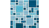 National Pool Tile Fusion Mosaic Glass Tile | Royal Blue | FS-ROYAL