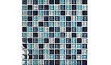 "Artistry In Mosaics Crystal Series - Aqua Blend Glass Tile | 1"" x 1"" | GC82323T2"