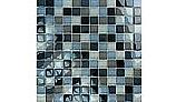 """Artistry In Mosaics Crystal Series - Black Charcoal Gray Taupe Blend Glass Tile 