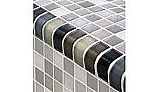 Artistry In Mosaics Crystal Series - Trim Black Charcoal Gray Taupe Blend Glass Tile | TRIM-GC82348K1