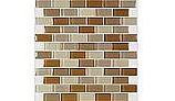 "Artistry In Mosaics Crystal Series - Khaki Tan Blend Glass Tile | 1"" x 2"" | GC82348N1"