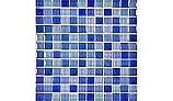 """Artistry In Mosaics Crystal Iridescent - Bright Blue Blend Glass Tile 