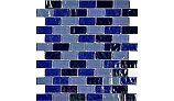"Artistry In Mosaics Ocean Series - Blue Blend Glass Tile | 1"" x 2"" | GC62348B6"