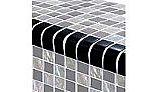 Artistry In Mosaics Twilight Series Trim Glass Tile | Black | TRIM-GT82348K5