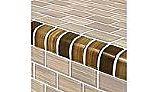 Artistry In Mosaics Watercolors Series 1x2 Trim Glass Tile | Brown | TRIM-GW82348N7