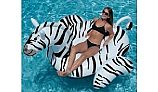 Swimline Giant Zebra Inflatable Ride-on Pool Toy | NT294