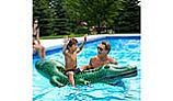 Ocean Blue Crazy Croc Ride-On Inflatable | 950400