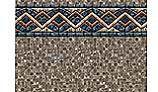 "12' Round Stone Mosaic 54"" Uni-Beaded Liner | Heavy Gauge | LI1254SMU25"