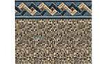"27' Round Tan Mosaic 52"" EZ-Bead Liner | Standard Gauge | LA5RB2700TM2TMX"