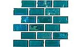 National Pool Tile Equinox 1x2 Glass Tile | Verde | EQX-EVERGREEN1X2
