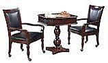 Hathaway Fortress Chess, Checkers & Backgammon Pedestal Game Table & Chairs Set | NG2995 BG2995
