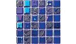 Betsan Glass Tile Perla Series | Indigo Blend | A365 Mix
