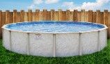 """Pristine Bay 27' Round Above Ground Pool 