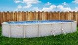 """Pristine Bay 18' x 33' Oval Above Ground Pool 
