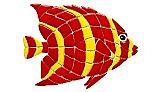 Ceramic Mosaic Red Angelfish 18 in x 15 in | RA20-18