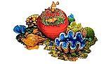 Porcelain Mosaic Coral | Reef Scene B | PORC-CR30B
