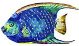 "Artistry In Mosaics Angel Fish Glass Mosaic   9"" x 18""   G-AFM"