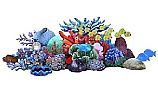 "Artistry In Mosaics Reef Scene Glass Mosaic | 37"" x 100"" | G-RSL"