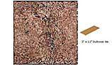National Pool Tile Silverstone 3x12 Single Bullnose Pool Tile | Rust | SVRRUST SBN