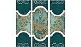 National Pool Tile Botanical Series Pool Tile | Teal Green | BUE37