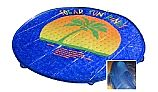 Solar Sun Rings Solar Blanket | Palm Tree Pattern | 5' Diameter with Water Anchors | SSRA-100
