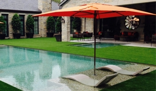 Ledge Lounger In-Pool Umbrellas