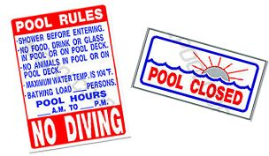Signs - Pool & Spa