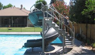 Commercial Pool Slides