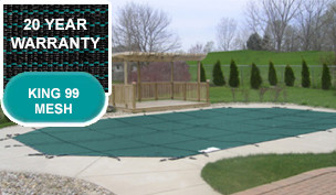 PoolTux 20 Year King99 Mesh Safety Covers