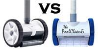 Pentair Kreepy Krauly Warrior vs. Poolvergnuegen 2-Wheel Cleaner